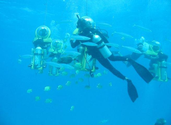 DBreathing Observation Bubble 海底世界摩托車